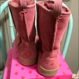 NWOT L.L.Bean Suede Faux Fur-Lined Boots